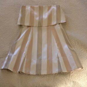 Karlie metallic Stripped strapless Cocktail Dress